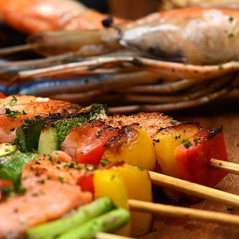 salmon-and-prawns-seafood-buffet